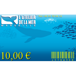 Bon Cadeau 10€ ATELIER DE LA MER