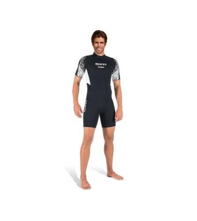 Combinaison shorty homme pour eau tiède Mares Reef Man épaisseur 2.5mm à fermeture dorsale. Idéal pour la plongée et snorkeling