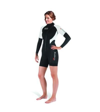 Sous-combinaison ou shorty Mares 2nd Skin She Dives en néoprène 1.5mm, intérieur Metalite pour une bonne protection thermique