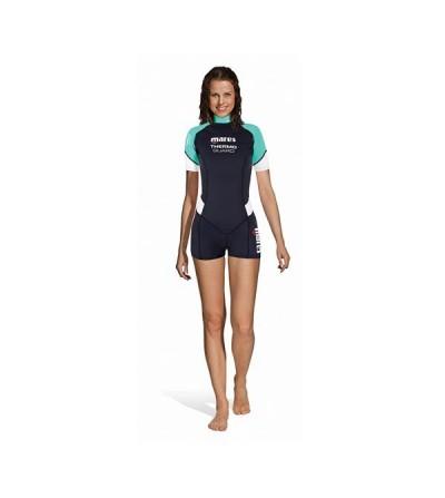 Combinaison shorty femme pour eau chaude Mares Thermo Guard She Dives 1.5mm pour la plongée & snorkeling ou en sous-combinaison