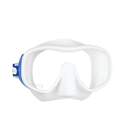 Masque monoverre sans cerclage Mares Juno en silicone pour la plongée et le snorkeling - visage normal