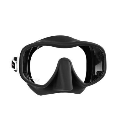 Masque monoverre sans cerclage Mares Jupiter en silicone pour la plongée et le snorkeling - visage large