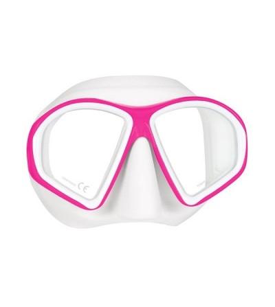 Masque deux verres Mares Sealhouette ou Silhouette très léger avec jupe & boucles en silicone pour la plongée & le snorkeling
