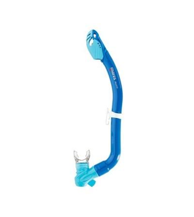 Tuba à soupape enfant Mares Pluto avec extrêmité sêche et sifflet intégré pour la sécurité  en plongée et le snorkeling junior