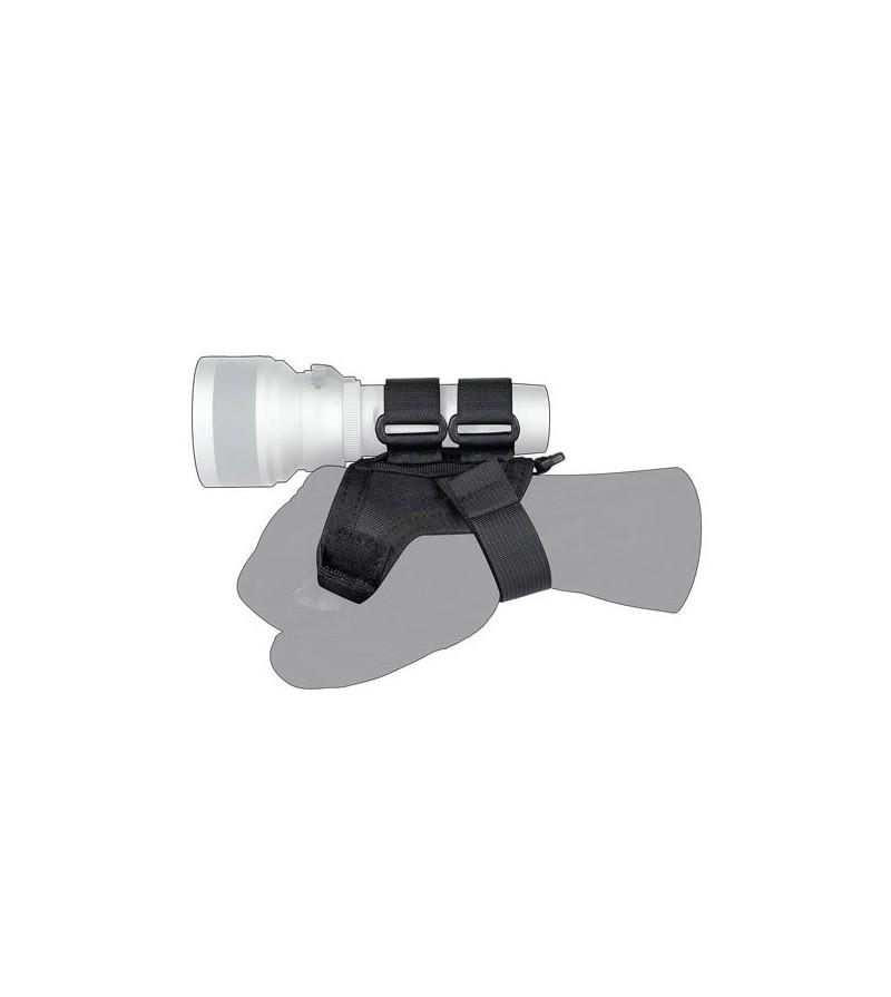 Accessoire pratique et sécuritaire pour les lampes de plongée Mares EOS, la poignée Goodman souple devient vite indispensable