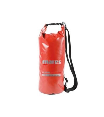 Sac entièrement étanche Mares T10 de 10 litres en Tarpaulin 500D rouge avec fermeture rapide