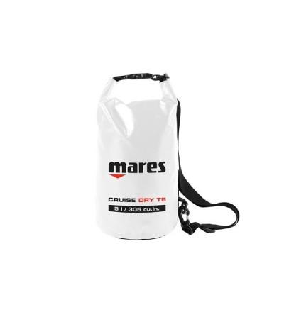Sac entièrement étanche Mares T5 de 5 litres en Tarpaulin 500D blanc, fermeture rapide