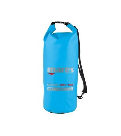 Sac entièrement étanche Mares T25 de 25 litres en Tarpaulin 500D bleu, fermeture rapide