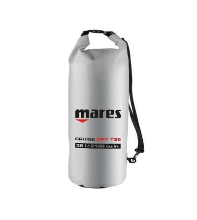 Sac entièrement étanche Mares T35 de 35 litres en Tarpaulin 500D gris, fermeture rapide
