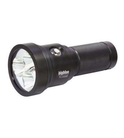 Phare de plongée à LED bigblue TL3500P pour l'exploration et la plongée Tech - 4 niveaux d'intensité, faisceau étroit