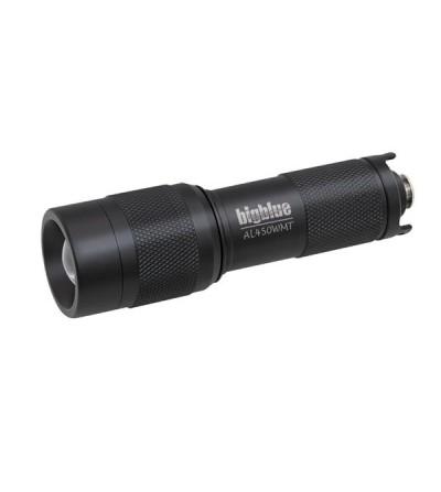 Mini lampe de plongée à LED bigblue AL450WM Tail  à piles pour l'exploration - faisceau étroit - étanche à 100 mètres