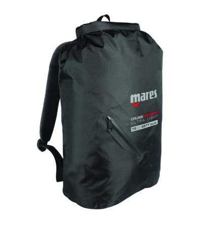 Sac étanche Mares Dry BAG BP-Light 75 litres en polyester noir 210D & fermeture rapide pour les activités outdoor et aquatiques