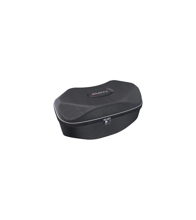 Boite de protection de forme ovale Mares avec fermeture à glissière pour transport d'un masque, lampe ou petit matos de plongée