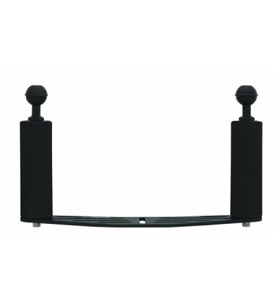 Large platine de fixation (27 cm) en aluminium anodisé noir à 2 poignées pour éclairage Bigblue, appareil photo et caméra vidéo