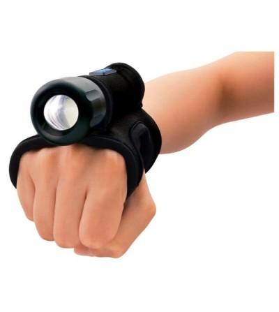 Gant Goodman NPG M Bigblue en néoprène pour une utilisation main libre de votre mini lampe