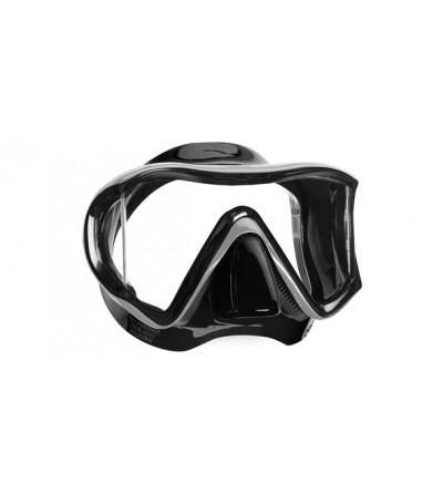 Masque monoverre Mares i3 Sunrise avec jupe en silicone avec vitres latérales pour un champ de vision sans égal - Noir