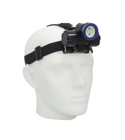 Lampe frontale de plongée rechargeable à LED bigblue HL1000XW pour l'exploration et la vidéo - faisceau large