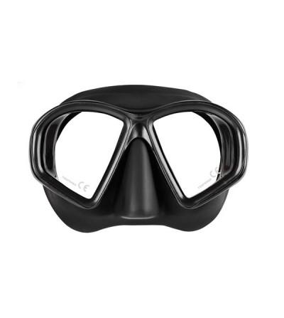 Masque deux verres Mares Sealhouette très léger avec jupe & boucles en silicone pour la chasse sous-marine & l'apnée - noir