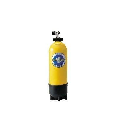 Bouteille de plongée monobloc Aqualung 10 litres - 1 sorties Z + filet + poignée - occasion - révisé et garanti 1 an