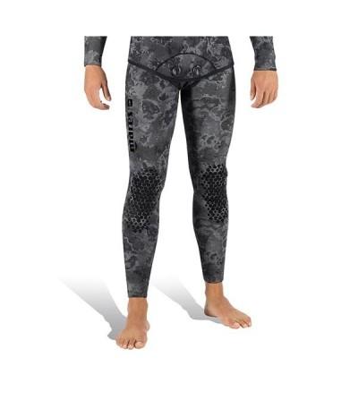 Pantalon de combinaison Explorer Camo Black en néoprène refendu 5mm Mares Pure Instinct pour la chasse sous-marine & l'apnée