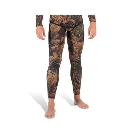 Pantalon de combinaison Illusion Camo Marron en néoprène refendu 5mm Mares Pure Instinct pour la chasse sous-marine & l'apnée