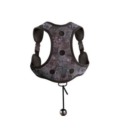 Gilet de lestage en néoprène Camo noir avec poches à plomb et harnais réglable Mares Pure Instinct pour chasse sous-marine