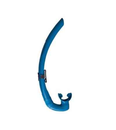 Tuba de chasse sous-marine & apnée Mares Pure Instinct Dual avec embout anatomique et section en D - bleu