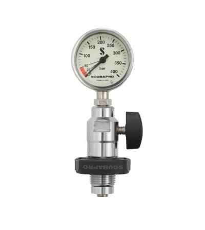 Manomètre Scubapro non étanche pour le contrôle de pression de vous bouteilles de plongée en surface - DIN ou étrier