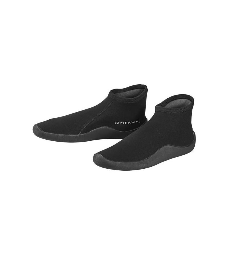 Bottillons néoprène Go 3mm avec semelle fine et tige basse pour la plongée ou comme chaussures de plage