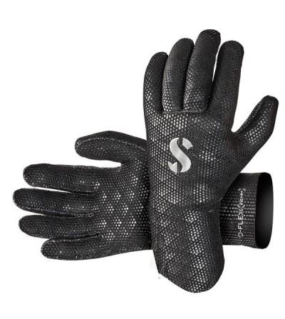 Gants de plongée Scubapro D-Flex en néoprène 2mm avec revêtement antiglisse qui offrent une bonne protection en eau chaude