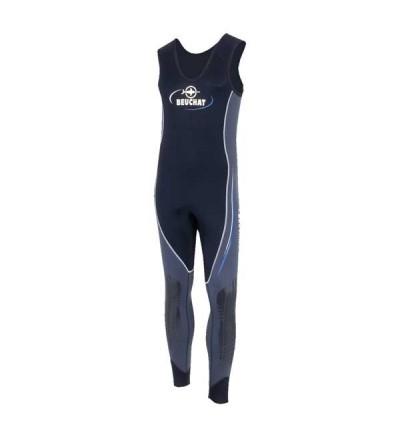 Bas de combinaison de plongée humide type pantalon salopette homme Beuchat Sormiou en néoprène 5mm