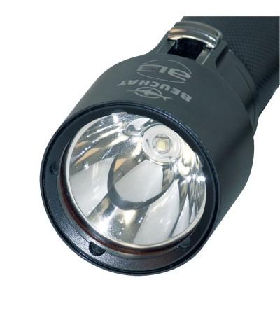 Lampe rechargeable à LED de plongée étanche à 100m Beuchat AL-3 avec coprs en aluminim anodisé noir design et compact