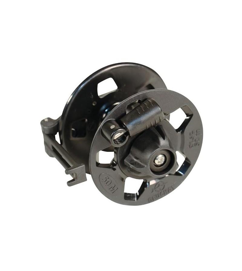 Moulinet compact avec frein et guide fil Beuchat Activ capacité de fil 50 mètres pour arbalètes de chasse sous-marine