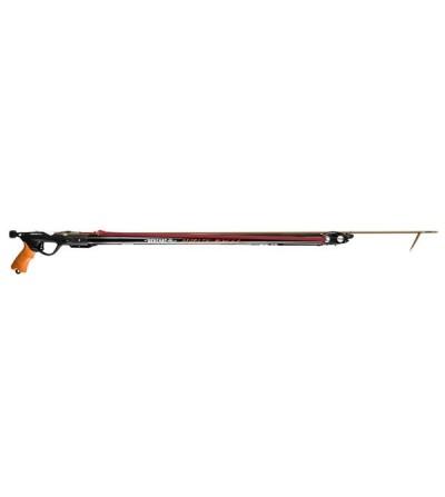 Fusil harpon de chasse sous-marine Beuchat Marlin Evil Open 130cm avec fût diamètre 28mm, tête ouverte et guidage intégral