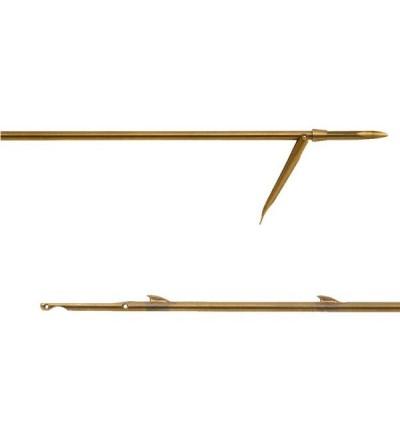 Flèche tahitienne inox Beuchat 6.5mm à ailerons soudés pour arbalète de chasse sous-marine