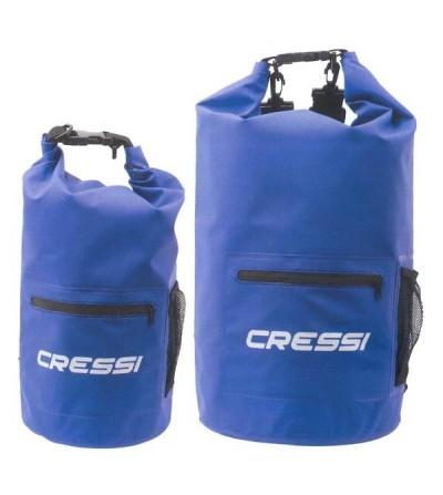 Sac étanche Cressi Dry Zip pour la plongée, apnée, nage, navigation, plage, activités aquatiques et outdoor - 10L & 20L