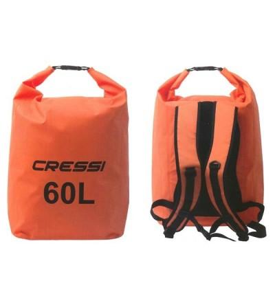 Sac à dos étanche Cressi Dry Back Pack pour la plongée, apnée, nage, navigation, plage, activités aquatiques et outdoor - 60L
