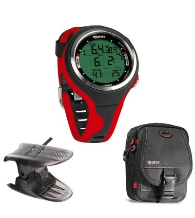 Pack avec montre ordinateur multigaz de plongée Mares Smart, interface usb Dive Link et sacoche Cruise Diver
