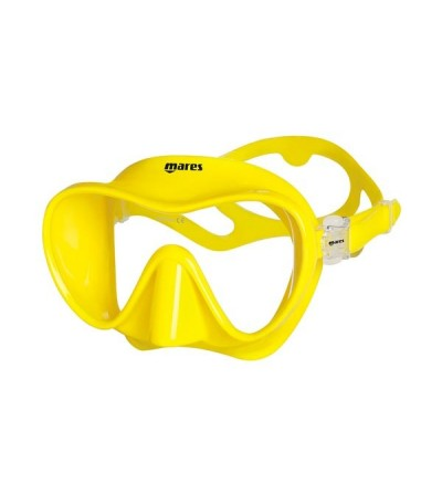 Masque monoverre sans cerclage ultra confortable Mares Tropical en silicone pour la plongée et le snorkeling - Jaune