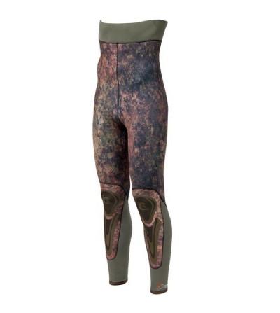 Pantalon de combinaison Cressi Seppia en néoprène refendu 7mm camouflage vert marron pour la chasse sous-marine & l'apnée
