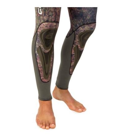 Pantalon de combinaison Cressi Seppia en néoprène refendu 5mm camouflage vert marron pour la chasse sous-marine & l'apnée