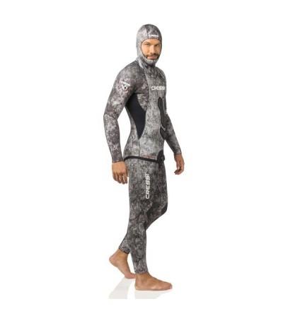 Combinaison 2 pièces veste + pantalon taille haute Cressi Apnea Camouflage en néoprène 5mm - chasse sous-marine & apnée