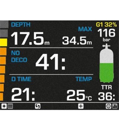 Ordinateur de poignet Mares Genius à gestion d'air pour la plongée à l'air, nitrox ou multigaz - Ecran couleur avec mode nuit