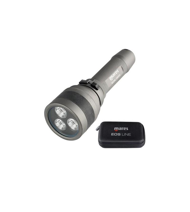 Lampe de plongée rechargeable 1500 lumens à LED Mares EOS 15 RZ avec faisceau réglable de 12° à 75° - 185 minutes d'autonomie