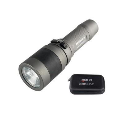 Lampe de plongée rechargeable 1000 lumens à LED Mares EOS 10 RZ avec faisceau réglable de 12° à 75° - 255 minutes d'autonomie