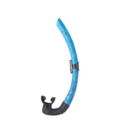 Tuba sans soupape de chasse sous-marine & apnée Mares Pure Instinct Dual couleur camouflage bleu avec section en D