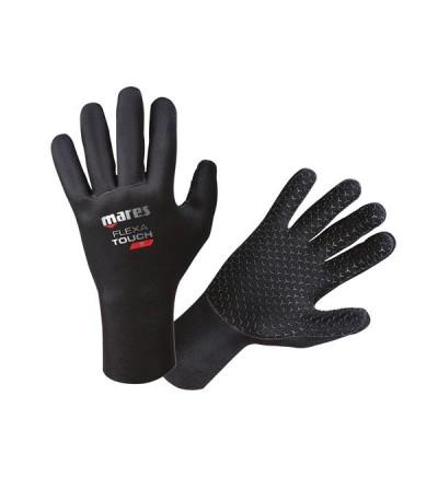 Gants en néoprène avec motif anti-glisse imprimé sur toute la surface Mares Flexa Touch épaisseur 2mm pour un toucher excellent