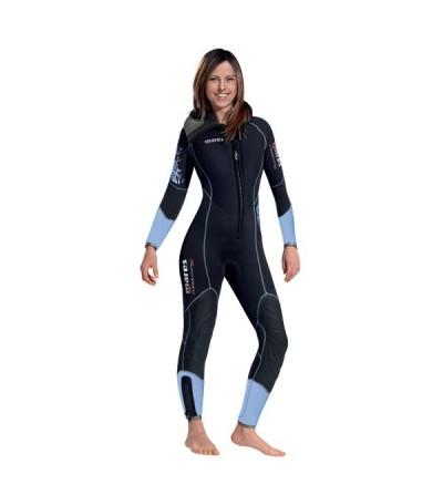 Combinaison monopièce de plongée humide avec cagoule attenante Mares Flexa Warm épaisseur 7mm modèle femme 2019
