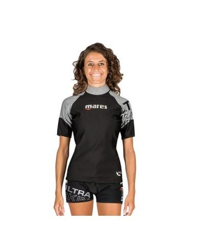 Haut de sous-vêtement à manches courtes Mares Ultra Skin She Dives, extensible, imperméable & respirant  pour femme