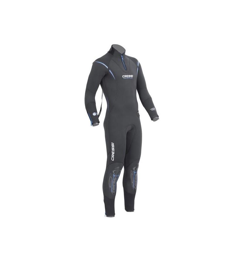 Combinaison de plongée humide monopièce Cressi Lontra Plus en néoprène ultraspan épaisseur 7mm - Modèle homme - Sans cagoule